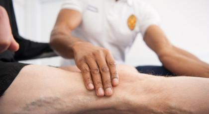 Hands on physio treatment