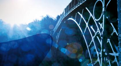 An iron bridge