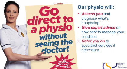 Go direct to a physio