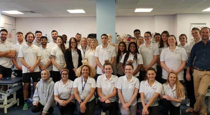 Leicester physio students