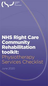 Community rehabilitation checklist for physiotherapy services