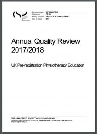 Cover image of the Annual Quality Review report 2017-18