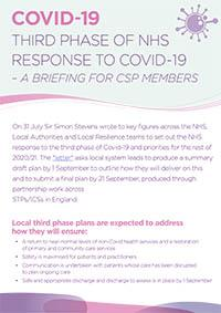 CSP briefing on the third phase of the NHS response to Covid-19