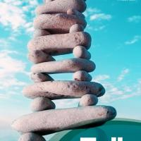 The cover image depicts a slightly precarious tower of smooth pebbles