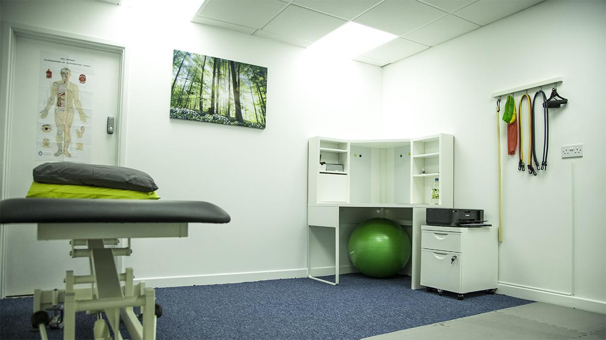 Sala de tratamiento en Vitalize Physiotherapy