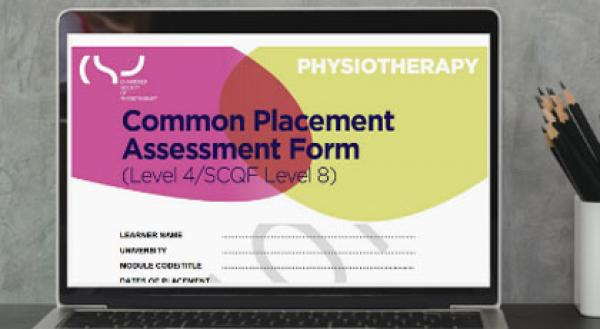 Laptop screen showing the Common Placement Assessment Form (CPAF)
