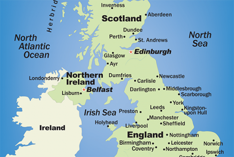 Map Of The Uk Cities.Physiotherapists In Major Uk Towns And Cities The Chartered
