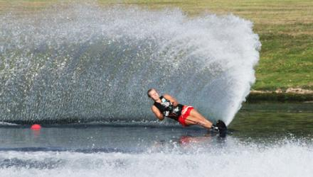 Physio makes a splash at international waterskiing championships