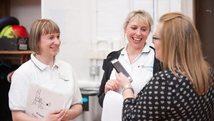 physiotherapists in discussion