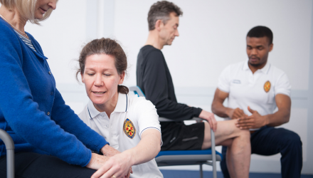 Physios checking patients