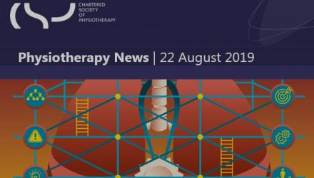 a screengrab of a physiotherapy news bulletin