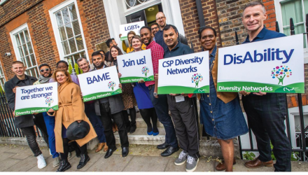 Members of the Diversity Networks outside Bedford Row