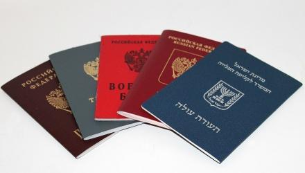 a selection of non-EU passports