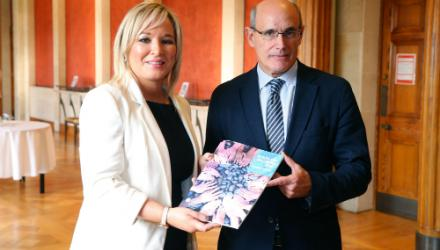 Michelle O'Neill and Rafael Bengoa