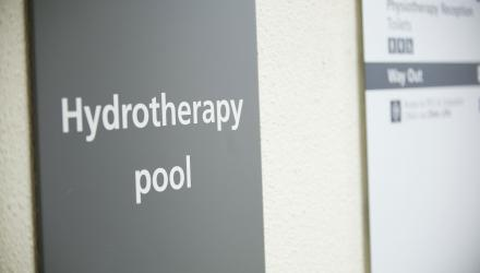 Hydrotherapy sign