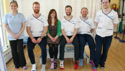 Northern Ireland physios 'sock it' to lymphoedema