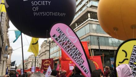 Physio staff back a new deal for working people