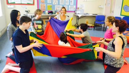Physios team up with OTs to run summer camp for hemiplegic children