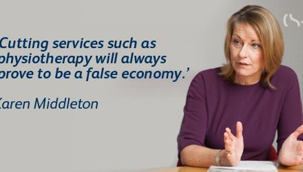 'Cutting services such as physiotherapy will always prove to be a false economy'