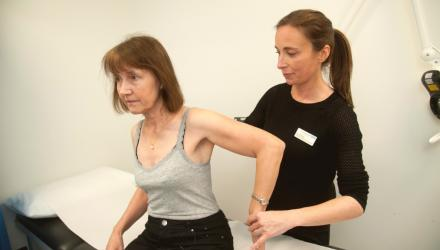 A patient receives treatment at an FCP practice in Farnham, Surrey
