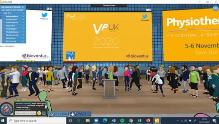 Delegates dancing at end of vPUK 2020