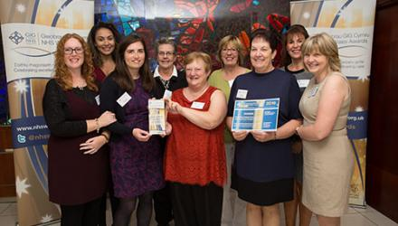 NHS Wales award team