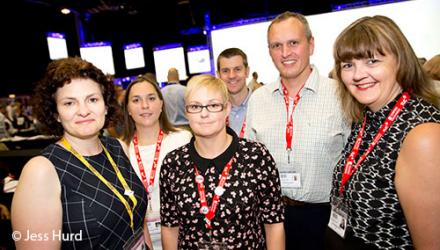 CSP representatives at 2016 TUC congress