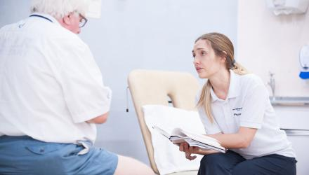 Older person with physio