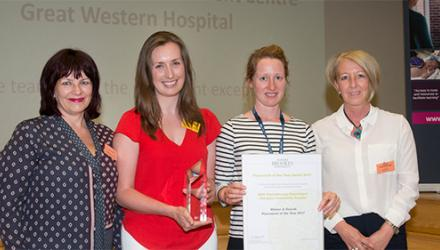 Student votes lead to three placement awards for physio team